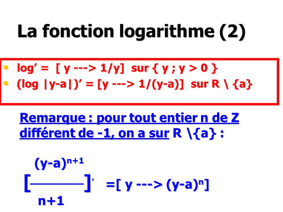 Les fonctions puissance (a x 1 ) x 2 = a x 1 x 2 (a x 1 ) x 2 = a x 1 x 2 a x 1 +x 2 =a x 1 x a x 2 a x 1 +x 2 =a x 1 x a x 2 (ab) x = a x x b x (ab) x = a x x b x a -x = (1/a) x a -x = (1/a) x x R a x := exp (x log a) x R a x := exp (x log a) a > 0 [ x a x ] = [x log(a) x a x ]