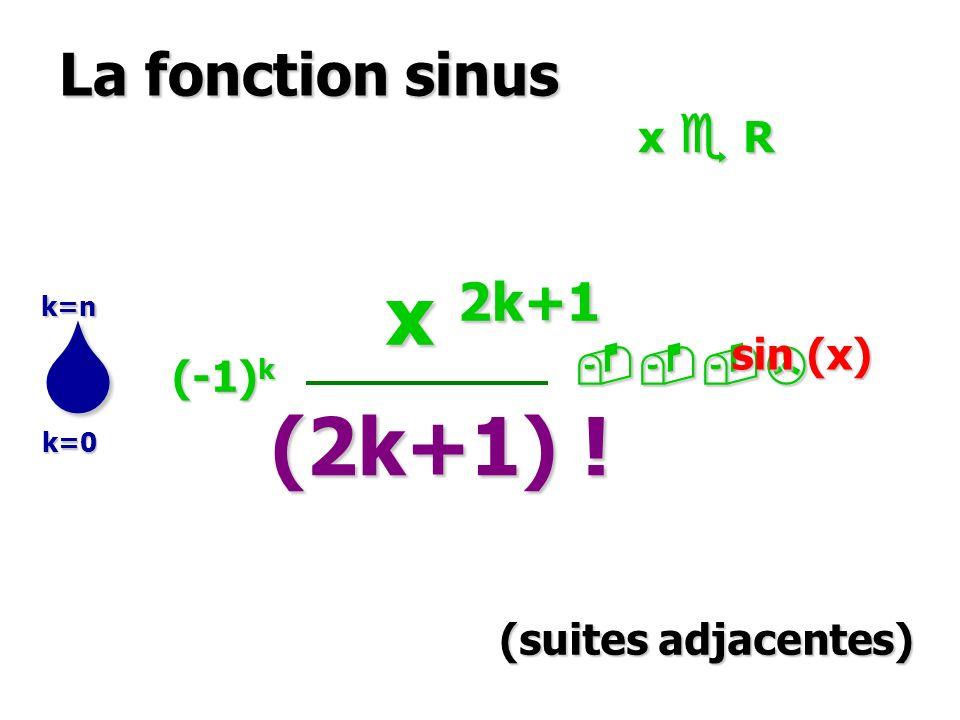 La fonction argcosh : {y ; y 1} {x ; x 0} x 0 et y = cosh x y 1 et x=argcosh y argcosh (y) = 1/sinh(argcosh(y)) = (y 2 -1) -1/2, y > 1 cosh x = y { X = e x X = e x x 0 (donc X 1) x 0 (donc X 1) X 2 – 2y X +1 =0 X 2 – 2y X +1 =0 x = argcosh y = log [y + (y 2 -1) 1/2 ] variable auxiliaire