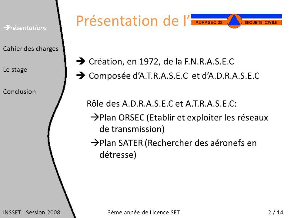 Présentation de l Création, en 1972, de la F.N.R.A.S.E.C Composée dA.T.R.A.S.E.C et dA.D.R.A.S.E.C Rôle des A.D.R.A.S.E.C et A.T.R.A.S.E.C: Plan ORSEC
