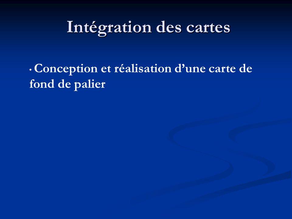 Intégration des cartes Conception et réalisation dune carte de fond de palier