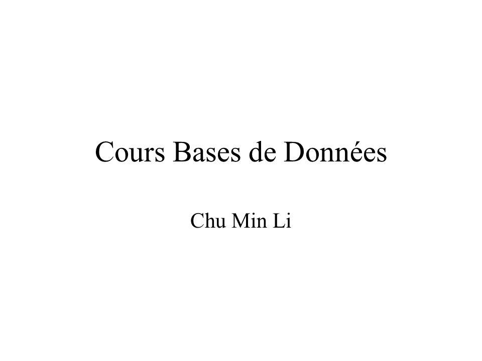 Cours Bases de Données Chu Min Li