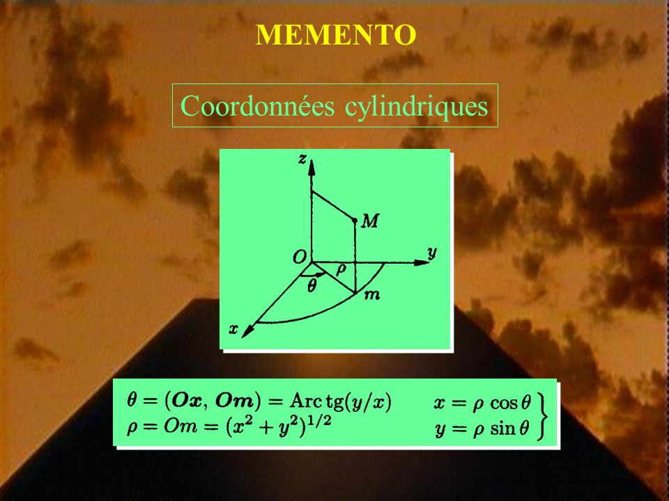 MEMENTO Rotationnel dun champ de vecteurs rot U = 0
