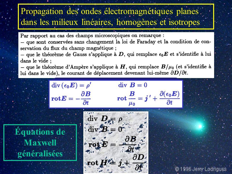 Quatre champs de vecteurs sont nécessaires à la description macroscopique de la situation électromagnétique dans les milieux matériels Équations de Ma