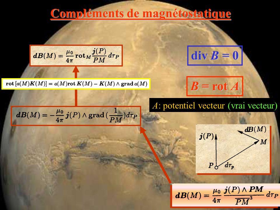 Compléments de magnétostatique champ magnétique produit par une charge ponctuelle en mouvement ( v << << c ) v*v* b*b* changement de repère
