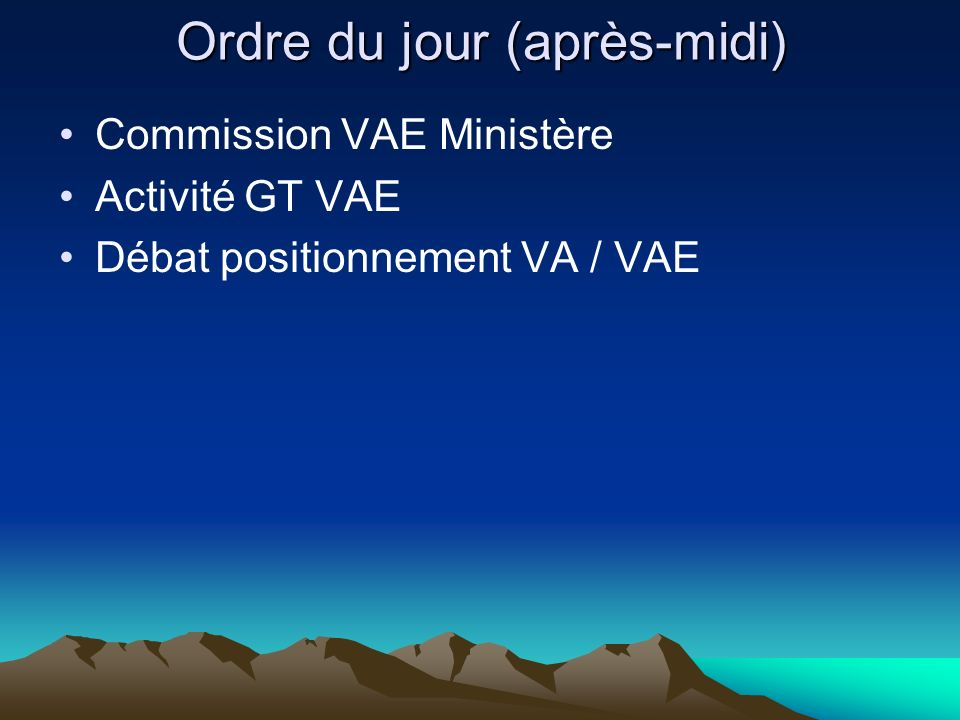 Vie de la Conférence Evolution statuts vers Association Point budgétaire Présidence de la Conférence