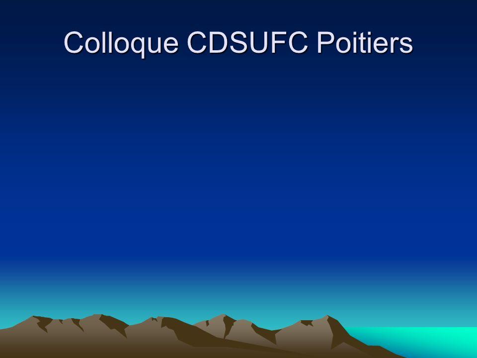 Colloque CDSUFC Poitiers