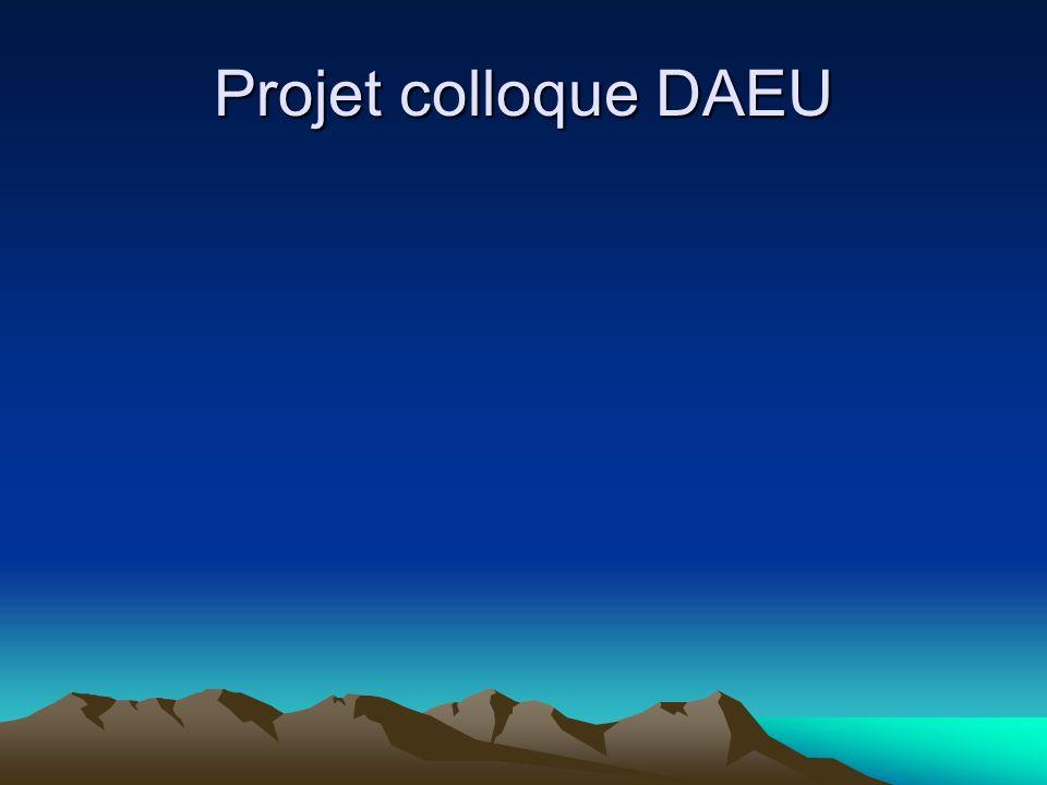 Projet colloque DAEU