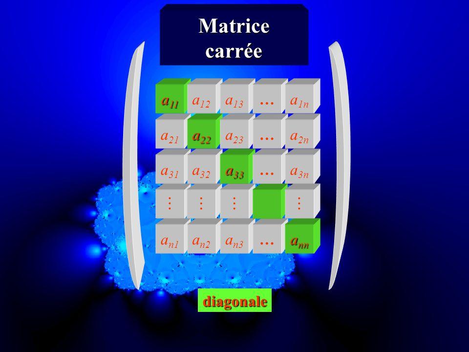 a n1 a n2 a n3 … a nn a 31 a 32 a 33 … a 3n a 21 a 22 a 23 … a 2n a 11 a 12 a 13 … a 1n Matricecarrée