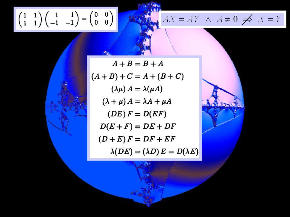 Espace vectoriel m,n (K) des matrices de type (m,n) matrice nulle 0 = (0)