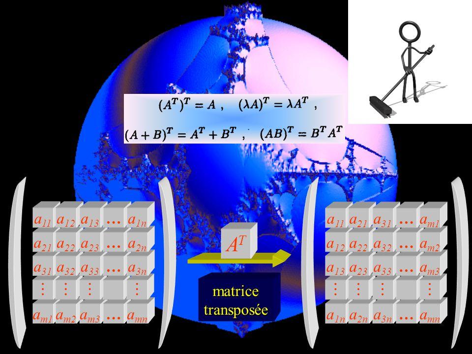 0 I = matrice unité = 00…1 001…0 010…0 100…0 a m1 a m2 a m3 … a mn a 31 a 32 a 33 … a 3n a 21 a 22 a 23 … a 2n a 11 a 12 a 13 … a 1n a 2n a 3n … a mn