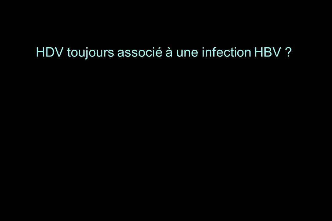 HDV toujours associé à une infection HBV ?