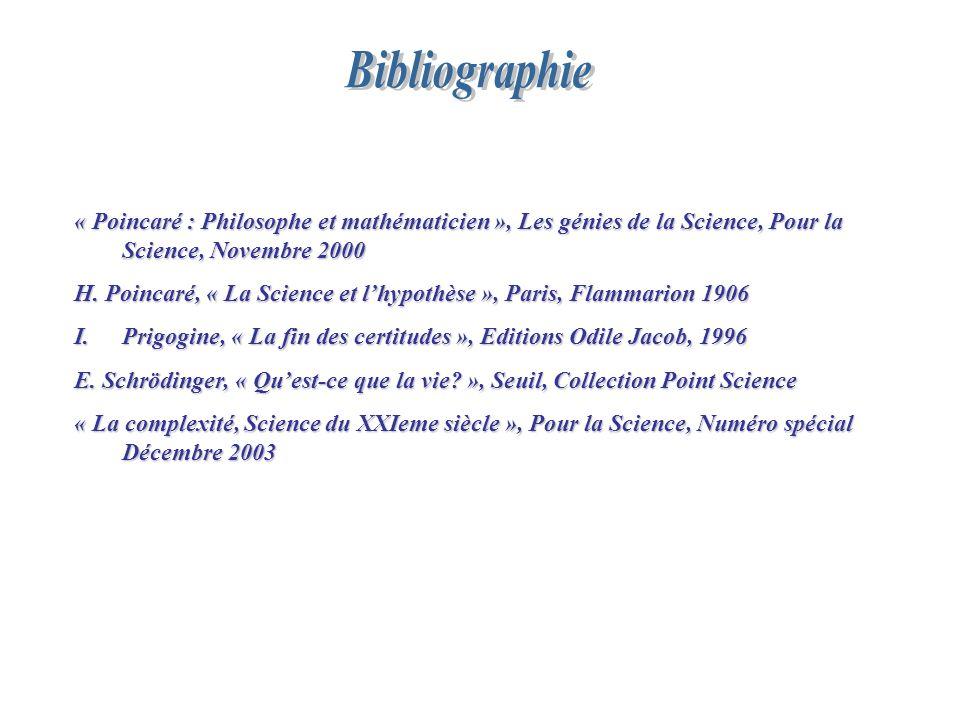 « Poincaré : Philosophe et mathématicien », Les génies de la Science, Pour la Science, Novembre 2000 H. Poincaré, « La Science et lhypothèse », Paris,