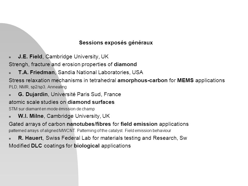 n Growth and Nucleation, 5 exp.Spongy carbon (Barborini, Univ.