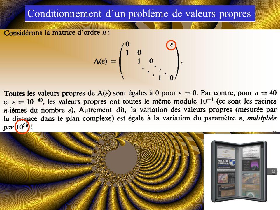Matrice de Hilbert Conditionnement dun système linéaire