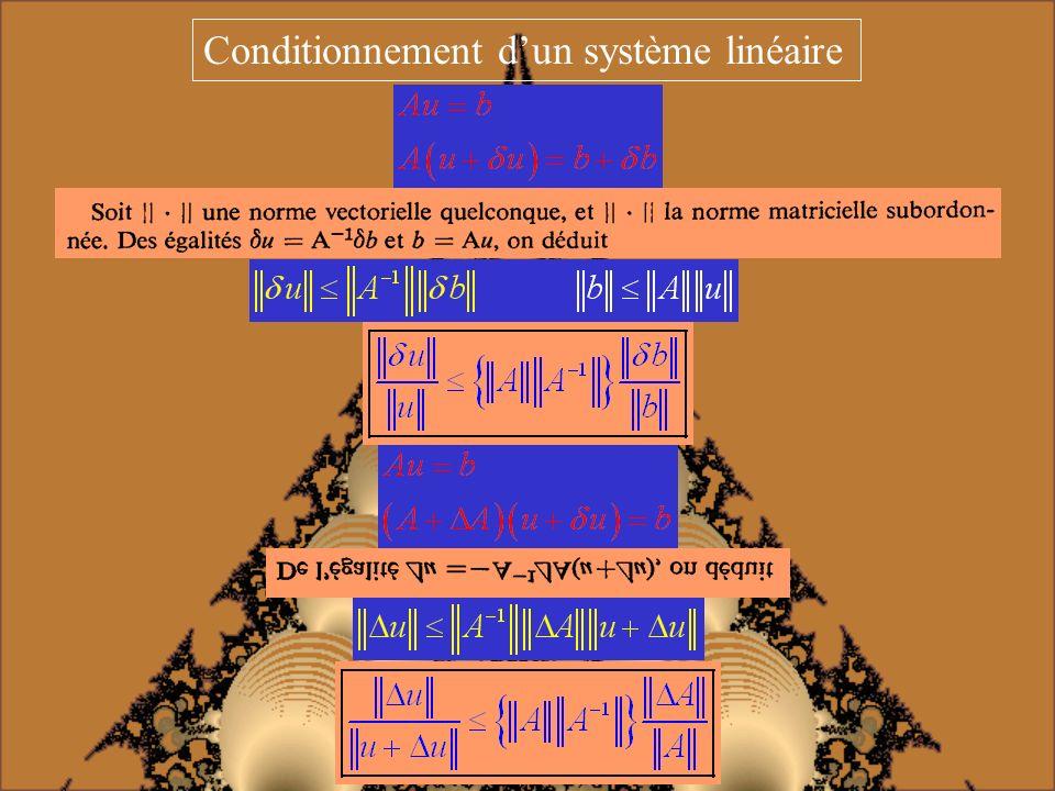 Conditionnement dun système linéaire