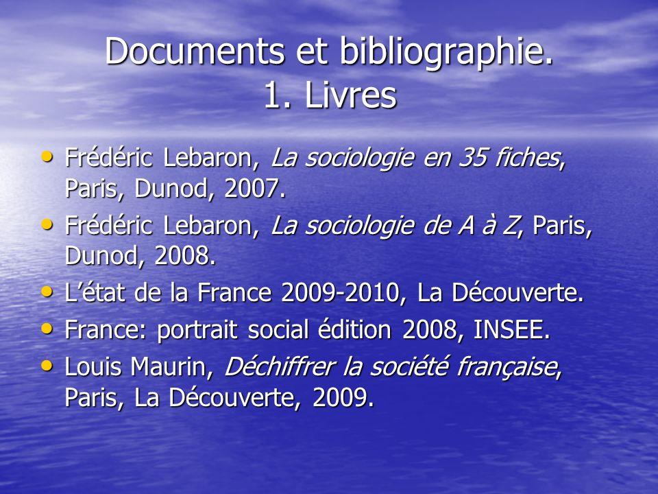 Documents et bibliographie.1.