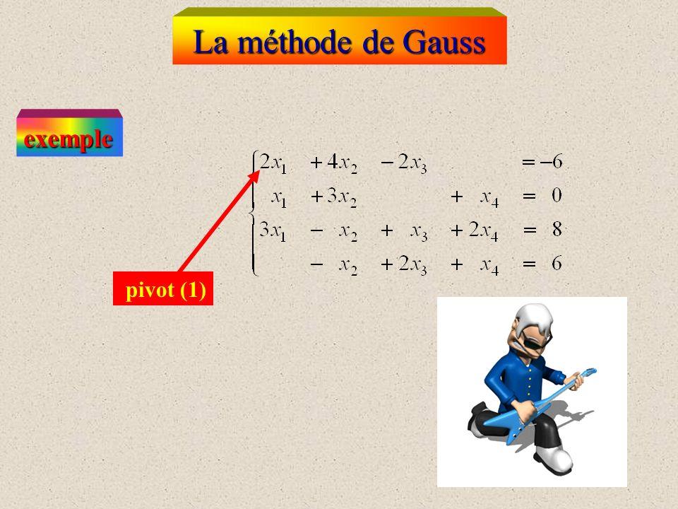 La méthode de Gauss Au = b, A : matrice inversible I.U ne procédure délimination qui équivaut à déterminer une matrice inversible M telle que M A soit
