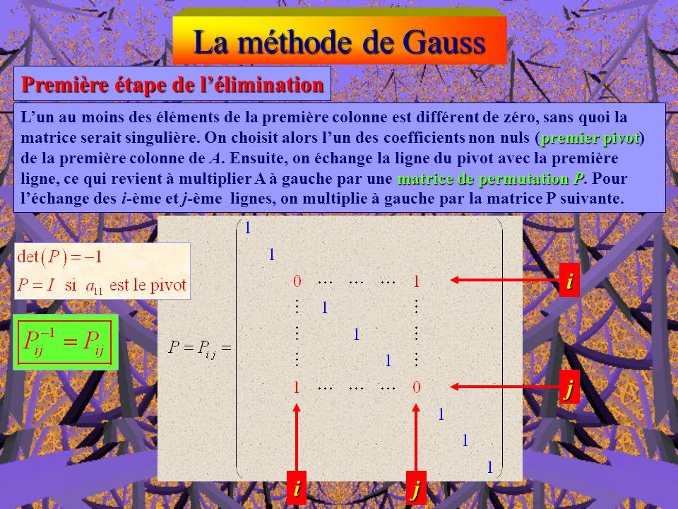 U, c = descent (A,b) x = triang (U,c) Fonction x = Gauss( A,b )