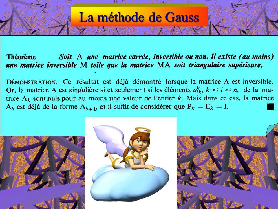 La méthode de Gauss ( n-1 )-ème étape de lélimination