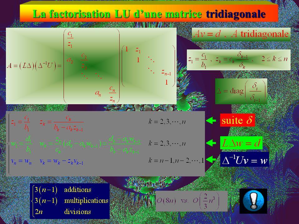 La factorisation LU dune matrice tridiagonale