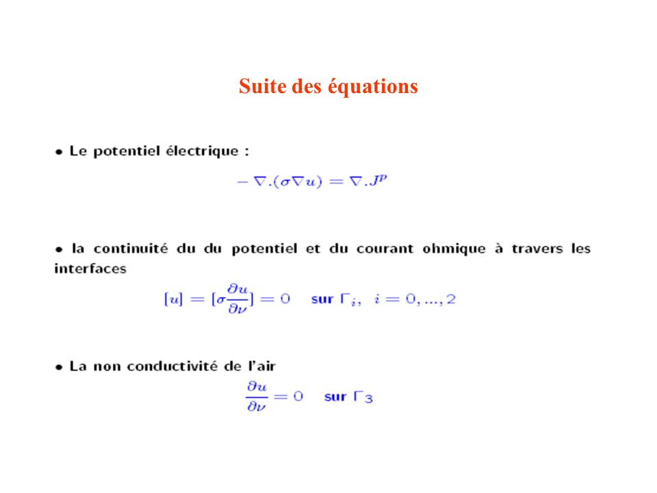 Suite des équations
