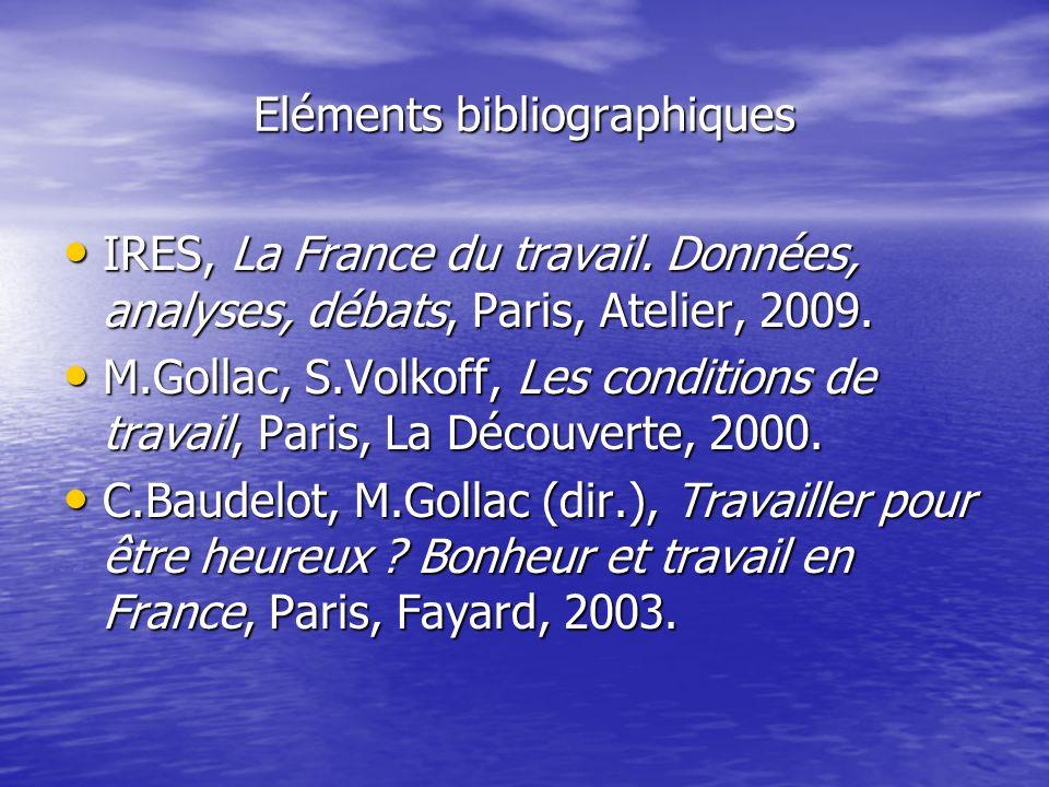 Eléments bibliographiques IRES, La France du travail. Données, analyses, débats, Paris, Atelier, 2009. IRES, La France du travail. Données, analyses,