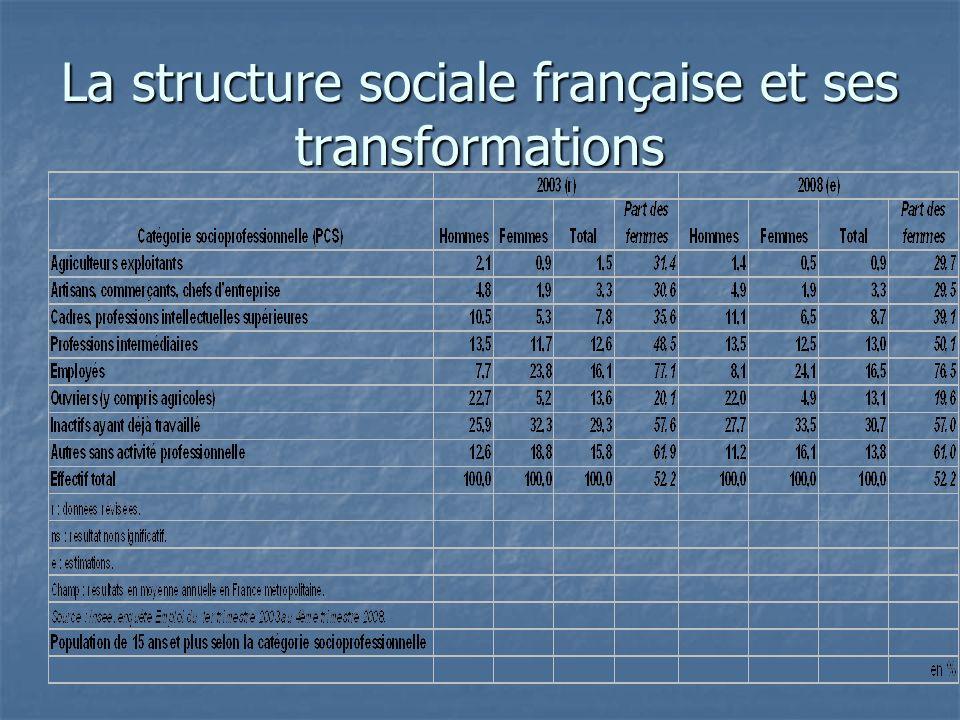 La structure sociale française et ses transformations