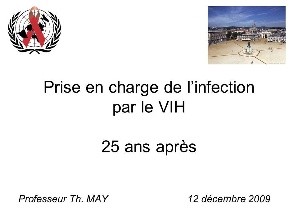 Prise en charge de linfection par le VIH 25 ans après Professeur Th. MAY 12 décembre 2009