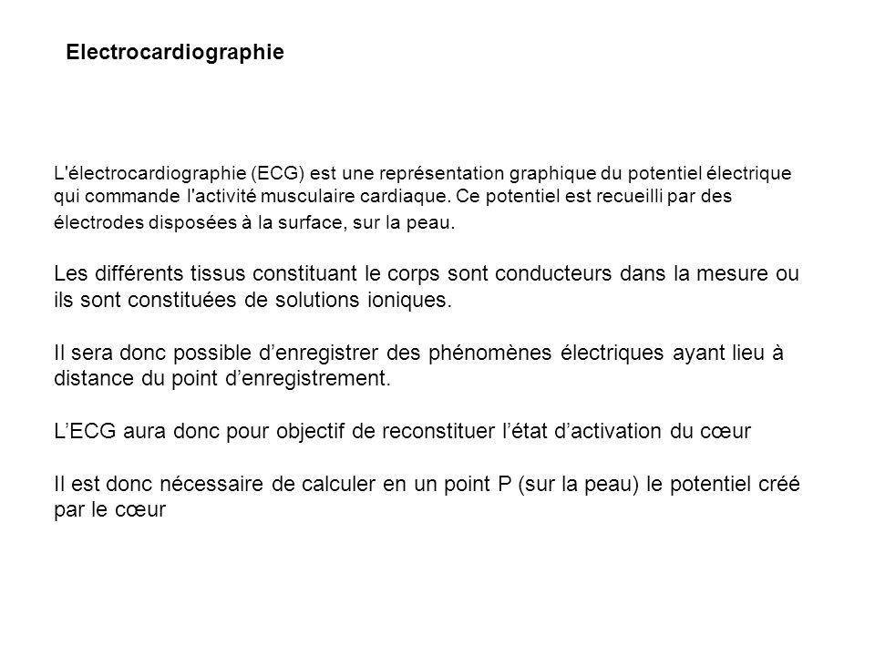 Electrocardiographie L'électrocardiographie (ECG) est une représentation graphique du potentiel électrique qui commande l'activité musculaire cardiaqu