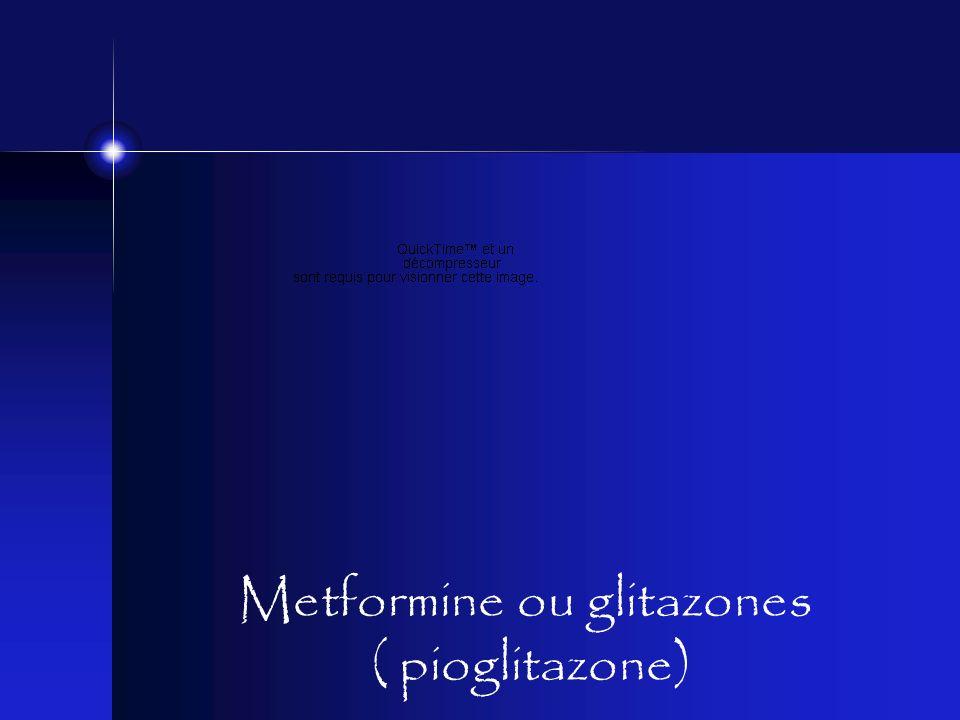 Metformine ou glitazones ( pioglitazone)
