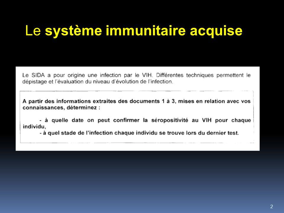 2 Le système immunitaire acquise