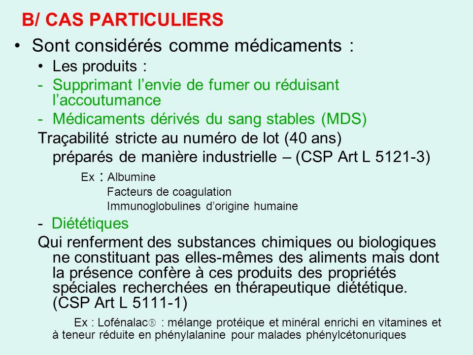 III/ DIFFERENTES CATEGORIES DE MEDICAMENTS 2/ Préparation officinale