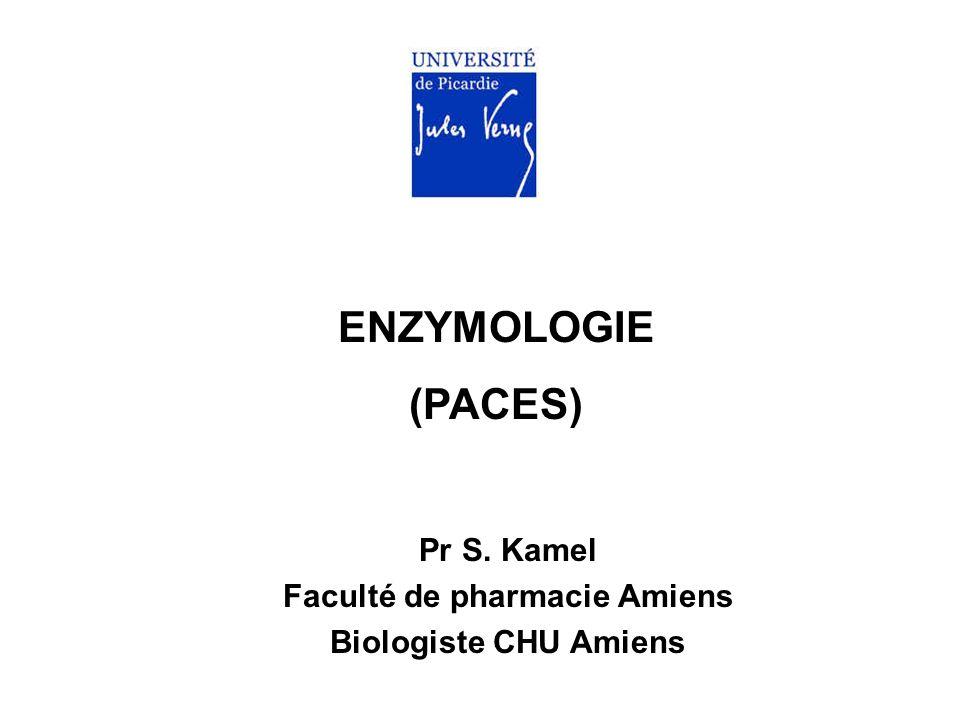 ENZYMOLOGIE (PACES) Pr S. Kamel Faculté de pharmacie Amiens Biologiste CHU Amiens