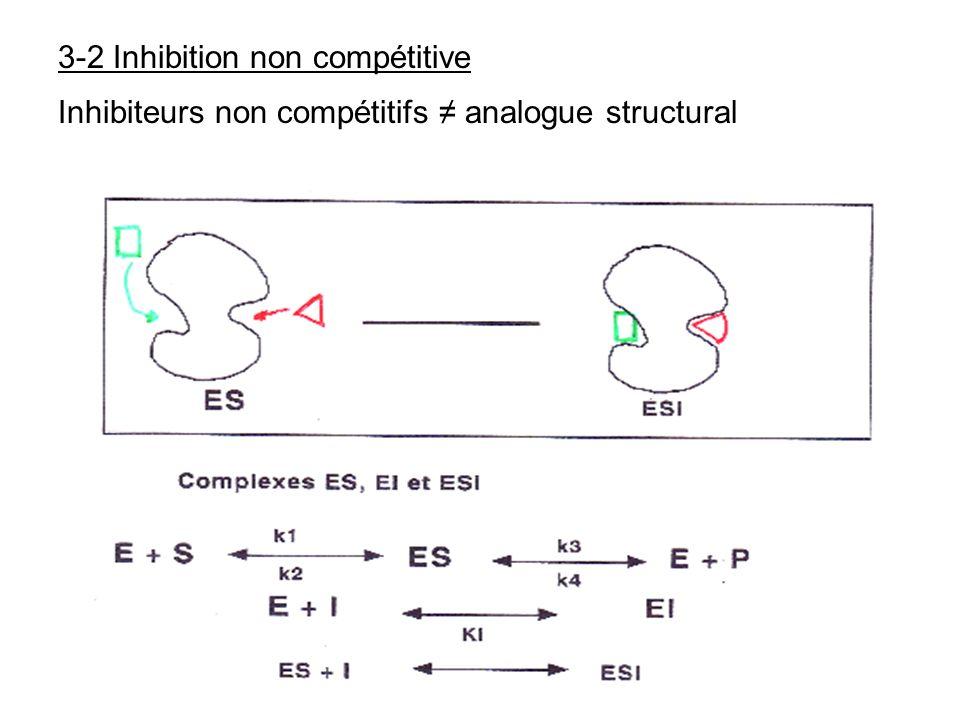 3-2 Inhibition non compétitive Inhibiteurs non compétitifs analogue structural