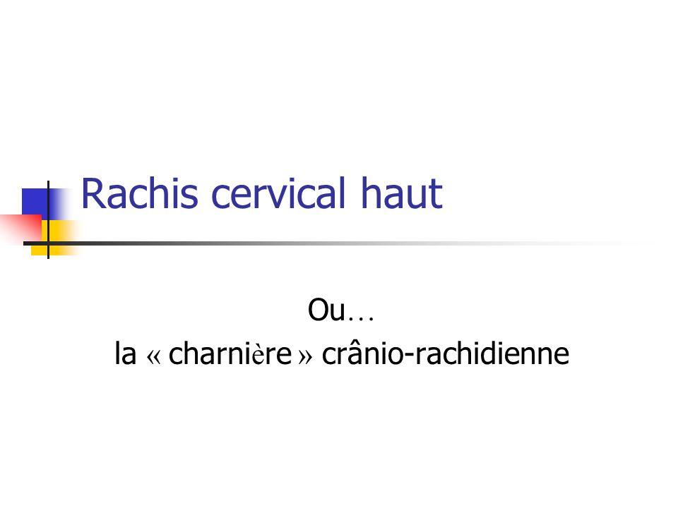 Rachis cervical haut Ou … la « charni è re » crânio-rachidienne