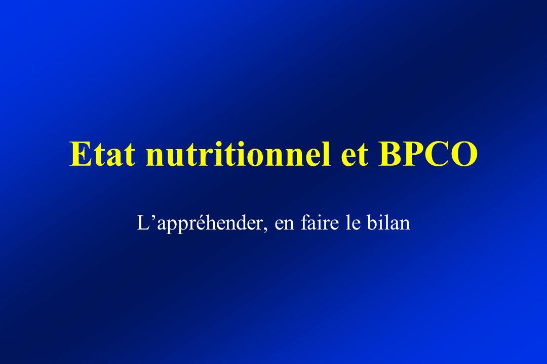 Etat nutritionnel et BPCO Lappréhender, en faire le bilan