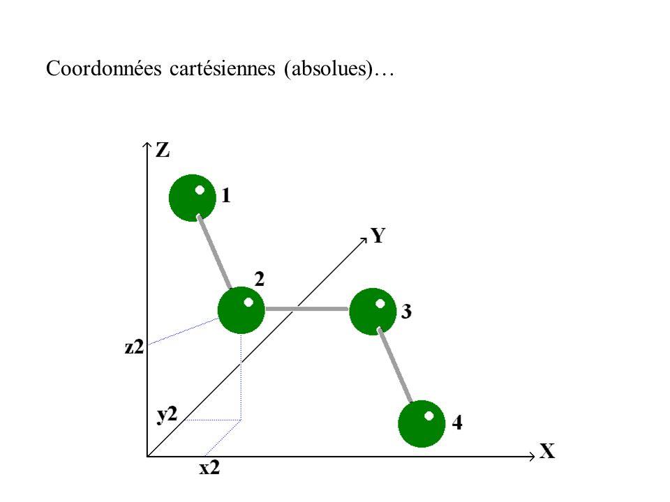 Coordonnées cartésiennes (absolues)…