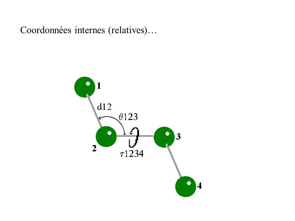 Coordonnées internes (relatives)…