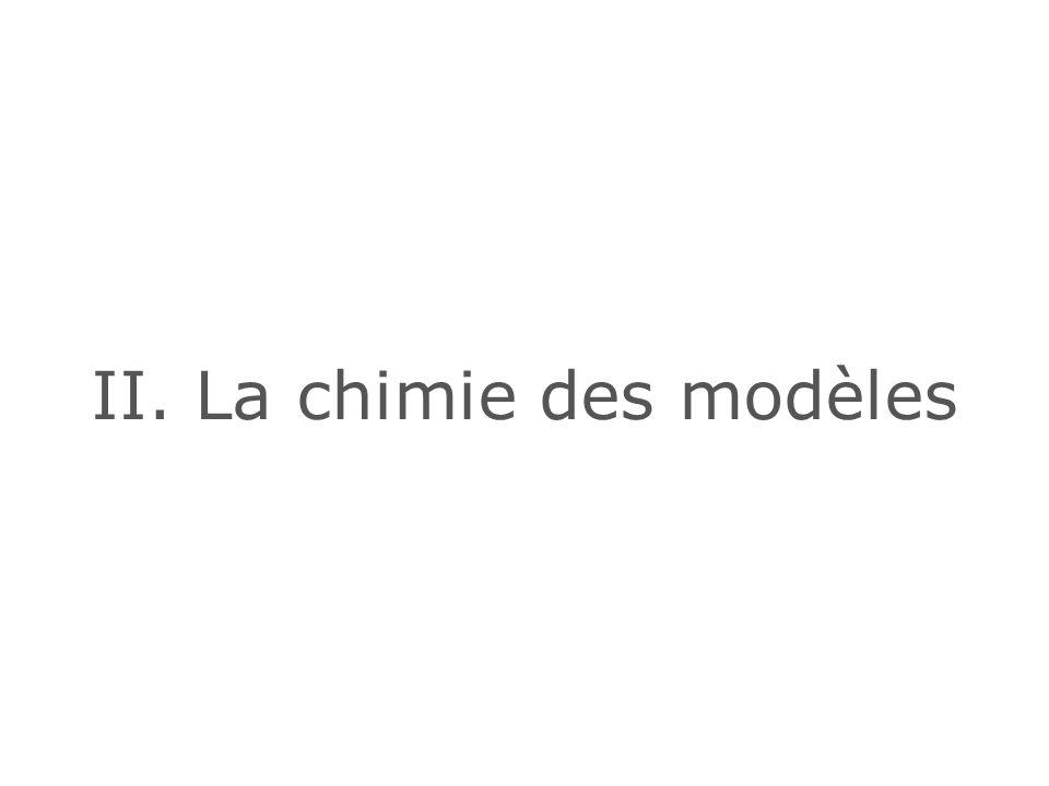 II. La chimie des modèles