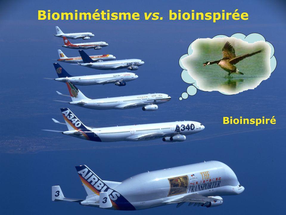 Biomimétisme vs. bioinspirée Bioinspiré