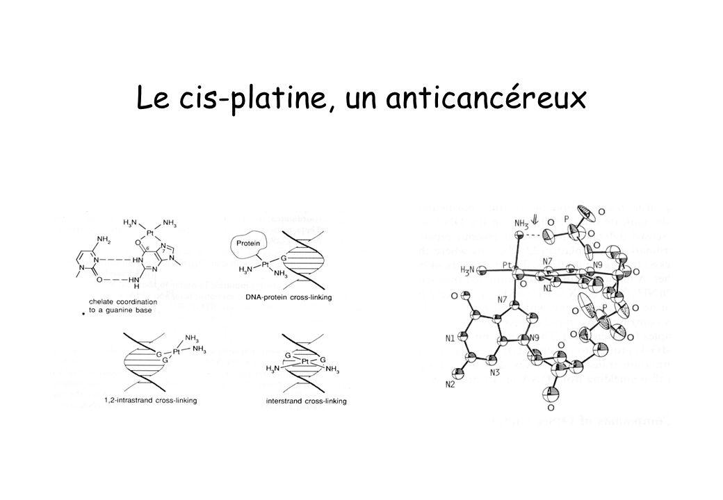 Le cis-platine, un anticancéreux