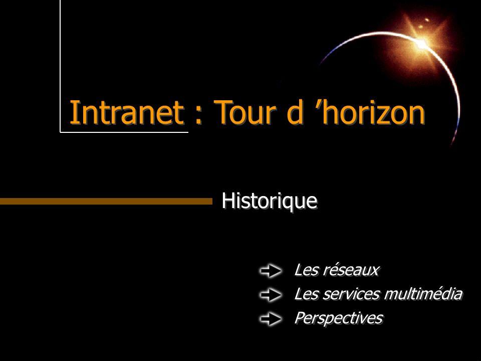 Intranet : Tour d horizon Historique Les réseaux Les services multimédia Perspectives