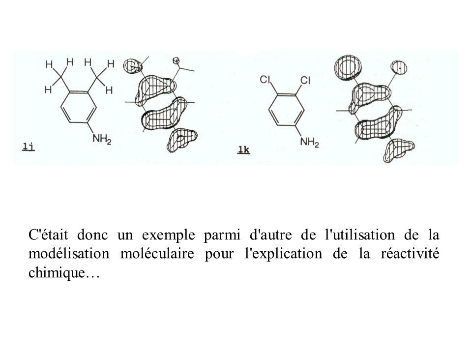 C était donc un exemple parmi d autre de l utilisation de la modélisation moléculaire pour l explication de la réactivité chimique…