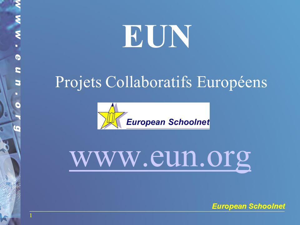 European Schoolnet 1 EUN Projets Collaboratifs Européens www.eun.org