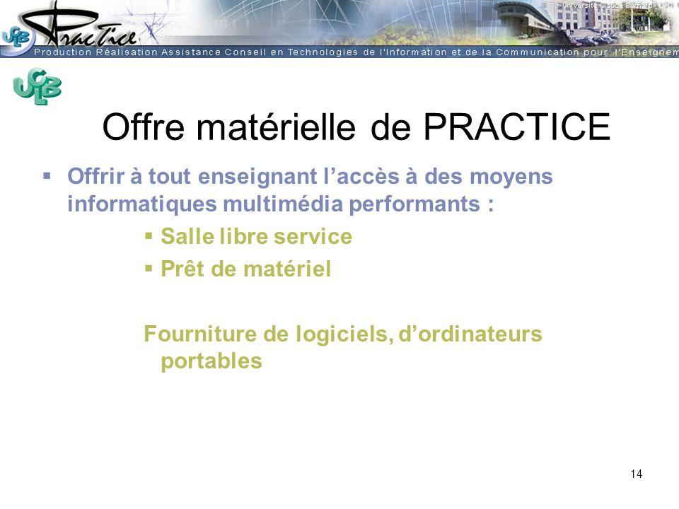 AMUE - Martine HEYDE 30 mars 2004Rénover les pratiques pédagogiques…. Offre matérielle de PRACTICE Offrir à tout enseignant laccès à des moyens inform