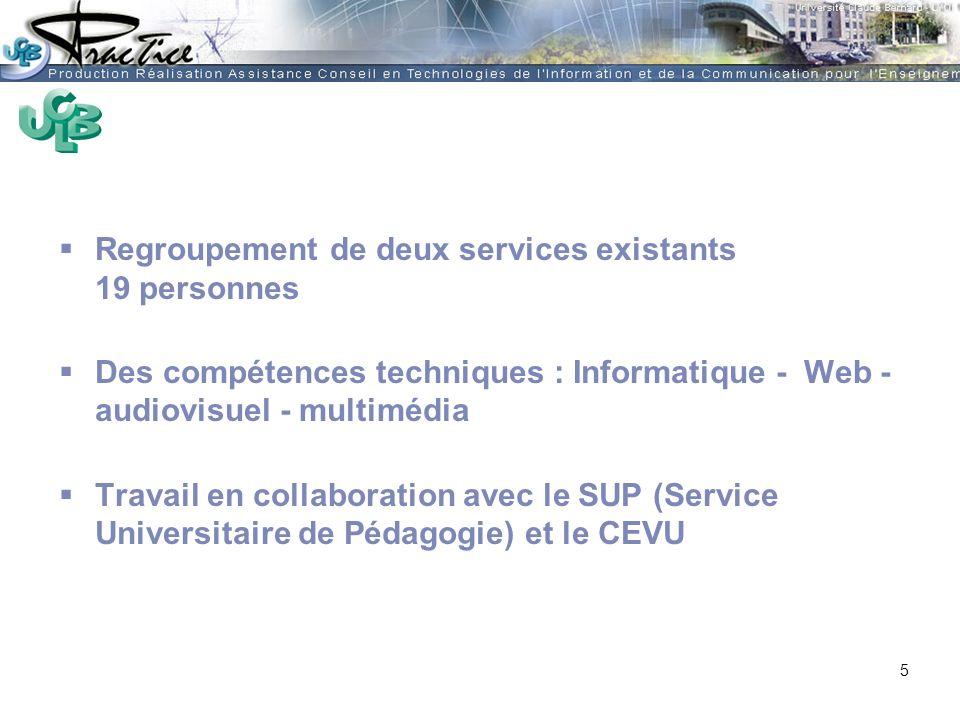AMUE - Martine HEYDE 30 mars 2004Rénover les pratiques pédagogiques…. Regroupement de deux services existants 19 personnes Des compétences techniques