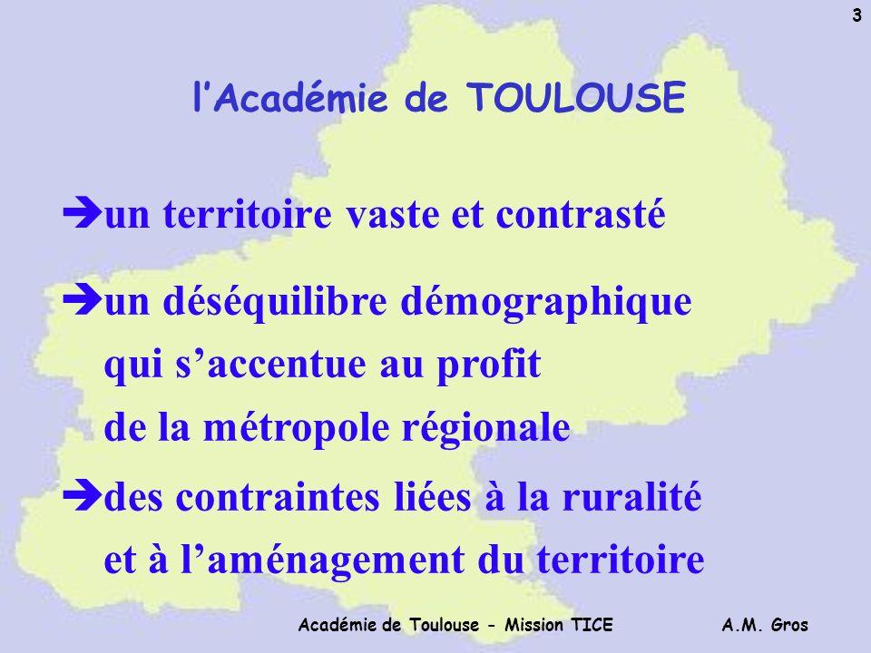 A.M. Gros Académie de Toulouse - Mission TICE 34 Répartition Horaire des Appels Enseignants ATOS