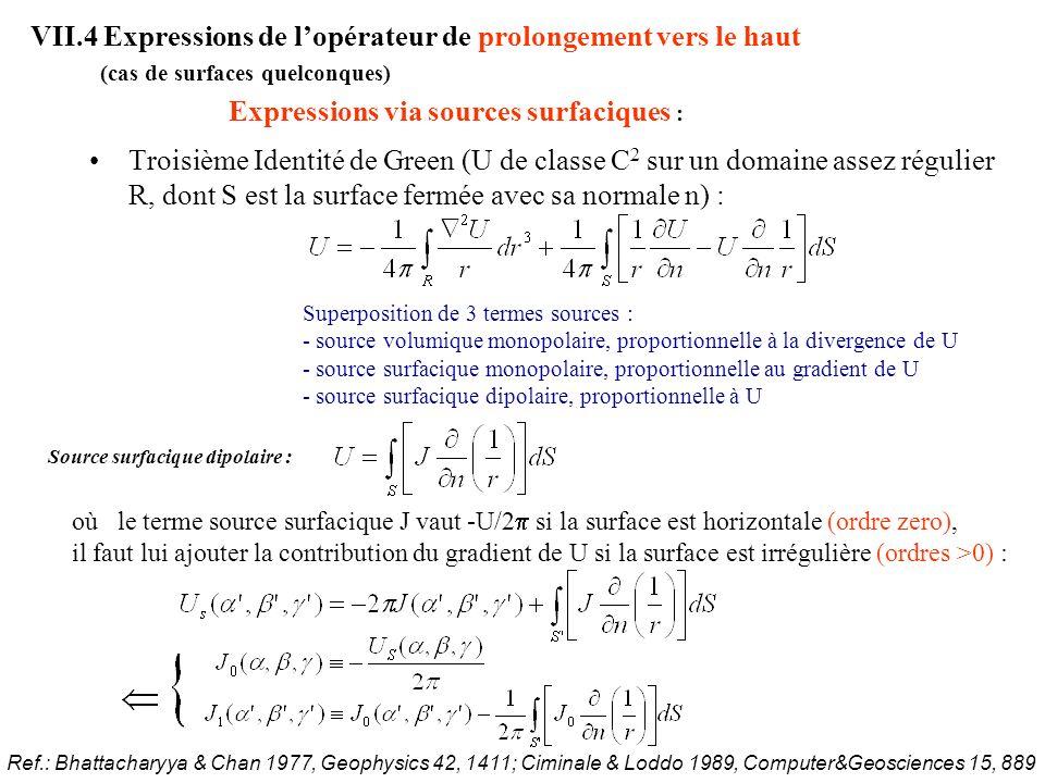 VII.4 Expressions de lopérateur de prolongement vers le haut Application : Ref.: Paul et al.