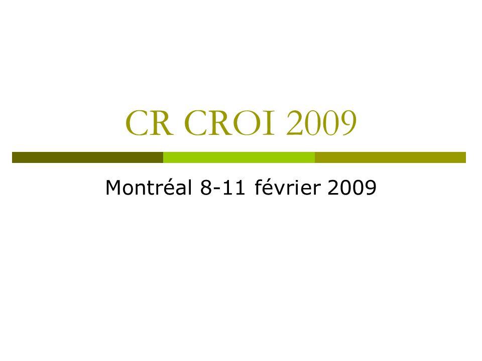 CR CROI 2009 Montréal 8-11 février 2009