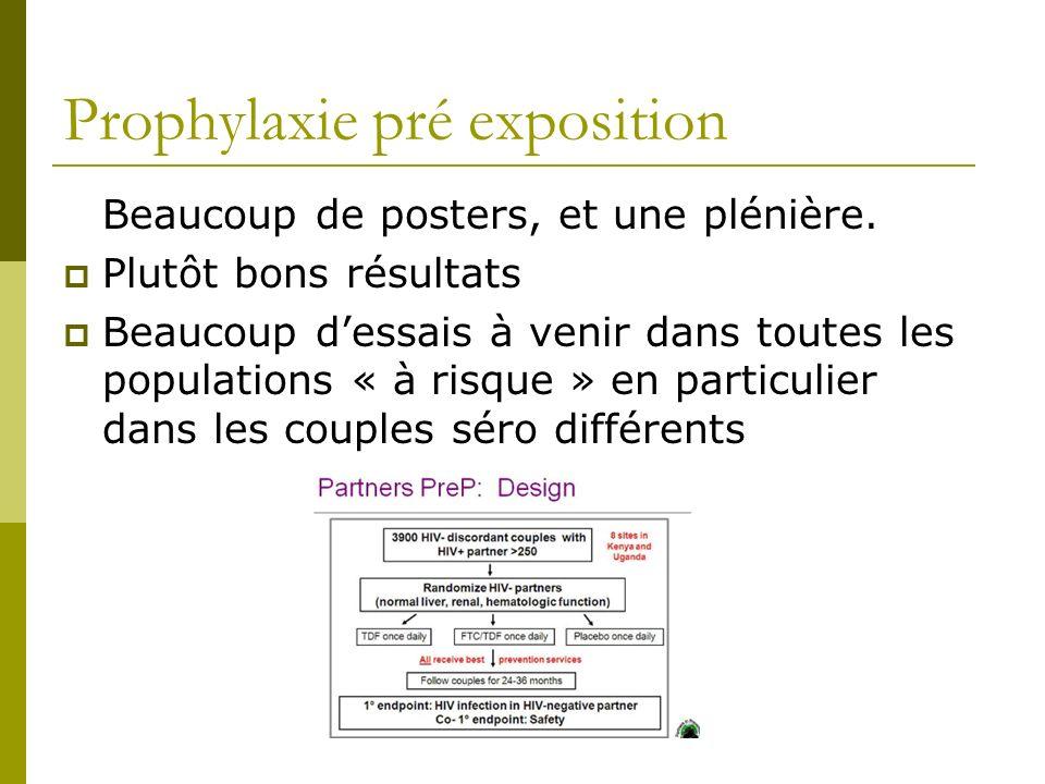 Prophylaxie pré exposition Beaucoup de posters, et une plénière.